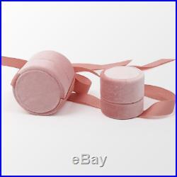 100 Personalised Wedding Bridal Ring Box Velvet Ring Earrings Pendant Round Box