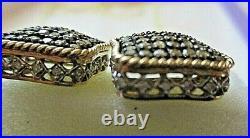 10K Yellow Gold Chocolate Brown Diamond Cluster Pendant, Earrings, Ring SZ 7¾