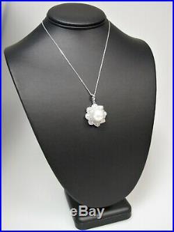 11.50 Ctw Pearl & Diamond Ring, Pendant & Earring Set 14 Kt White Gold $23,575