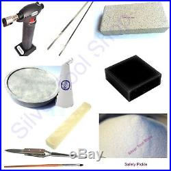 11 Pcs Jewellery Solder Kit For Soldering GOLD, Silver -Torch/Solder/Charcoal
