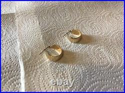 14 Karat Solid Yellow Gold Loop Ear Rings 3.5 Grams Wear Or Scrap Nice Earrings