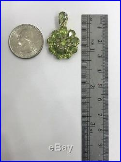 14k Solid Yellow Gold Cluster Set Earrings Ring Pendant with Natural Peridot