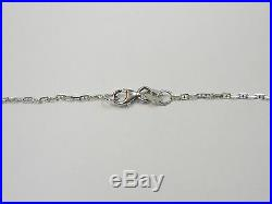 14k White Gold Sapphire/diamond Pendant/18'' Chain And Pierced Earrings Ng44-f