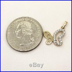 14k Yellow Gold CZ Butterfly Set of Ring Earrings Pendant Womens Girls, 3.4 Grams