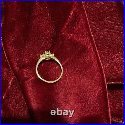 14k gold & Garnet Set Ring Earrings Pendant New in Box Stunning Ring Sz 7