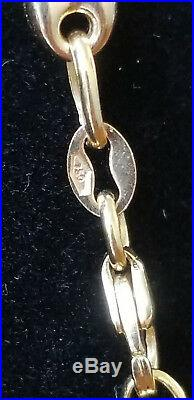 18K Solid Yellow Gold, Gucci Style, Necklace, Earrings, Pendant, Bracelet & Ring