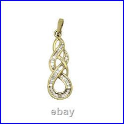 18k Yellow Gold GP Ring, Pendant, Earrings Set with Round Diamonds Bridal Jewelry