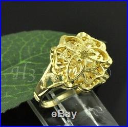18k solid yellow gold earring ring pendant set diamond cut stud 9.60 gram #3436