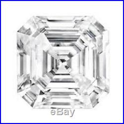 2.73 Ct Asscher Cut Near White Loose Moissanite For Ring, Earring and Pendant