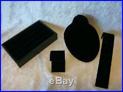 20 Piece Lot Black Velvet Jewelry Displays for Rings Bracelets Earrings Pendants