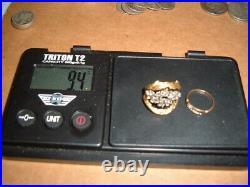 29.3g 18k & 14k gold band ring eagle pendant cross earrings scrap melt misc lot