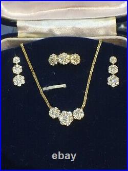 3.00cttw set18k Diamond EARRINGS-18k Diamond RING-18k Diamond PENDANT Necklace