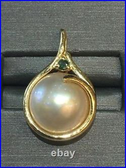 3pc lot 14k Pearl withDiamond Ring, a Set of Earrings & Pearl Pendant/Charm