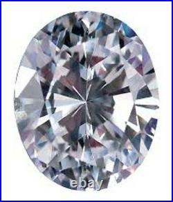 5.60 Ct White i-j Color Oval Loose Real Moissanite For Rings/Pendant/Earrings