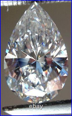5.70 Ct Vvs1 White j-k Color Pear Loose Moissanite For Rings/Pendant/Earrings