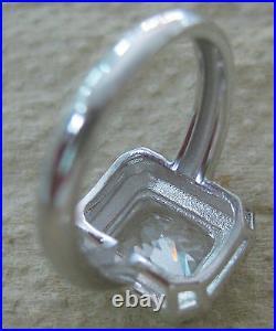 925 STERLING SILVER Rectangular CZ Halo Earrings Pendant Ring SET GIRL WOMEN