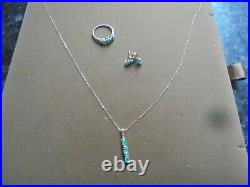 9K Gold Set Ring Size UK P Earrings & Chain & Pendant THE JEWELLERY CHANEL