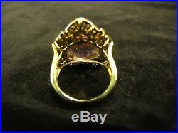 Amethyst Diamond 18K YG Ring Earrings Pendant Full Set 59ctw. Boutique ELEGANT