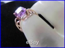 Amethyst Set, 10kt 14kt Ring, Earrings, Pendant/Chain BEAUTIFUL 1039