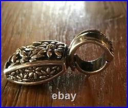 Ann King QVC Sterling Silver 18k Daisy Flower Ring Size 6 PENDANT & Earring Set
