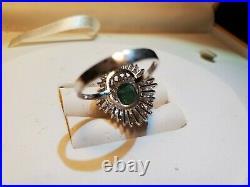 Antique Gold set of Pendant, bracelet, ring & earrings with Emerald & Diamond