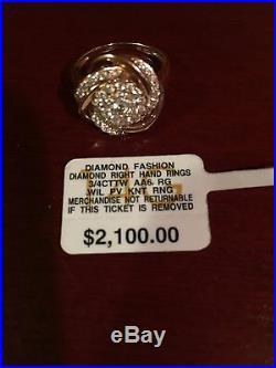 Beautiful 14K Rose Gold Diamond set Ring, Earrings & Pendant