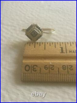 Black, White, Chocolate Diamond Earring Ring Pendant Set, 14K YG Art Deco