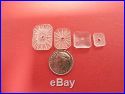 CAMPHOR GLASS from Czechoslovakia NOS for necklaces, pendants, earrings rings D8