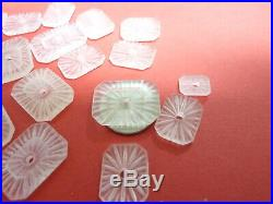 CAMPHOR GLASS from Czechoslovakia NOS for necklaces, pendants, earrings rings D9