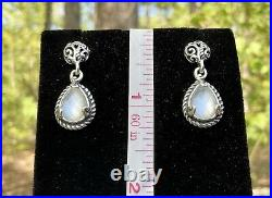 Carolyn Pollack Mother Of Pearl Doublet Pendant Ring Sz 6.5 Earrings Set