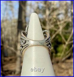 Carolyn Pollack Mother of Pearl Brass Silver Enhancer Pendant Earrings Ring Set