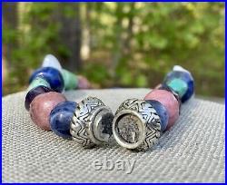 Carolyn Pollack Silver Bead Necklace Bracelet Ring Earrings Pendant Magnet Set