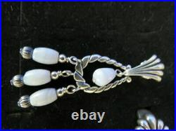 Carolyn Pollack Sterling Silver Blue Lace Agate Ring Earrings Pendant