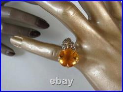 Chanel 2006 Gold/Diamonds Ring, Pendant Earrings Camelia Aquatique Set 4pc