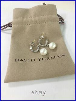 David Yurman women's silver Solaris pearl pendant diamond ring earrings
