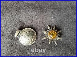Designer STERLING SILVER LOT Use or Scrap 94g Earrings, Pin, Pendants, AND RING