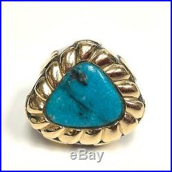 Dian Malouf 14K Sterling Silver Turquoise Ring Pendant with Diamond and Earrings
