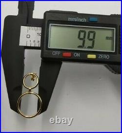 Earrings Gold 18k. 2 Rings Pendants