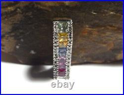 Effy BH Watercolors Multi Colored Sapphire & Diamond 14k Ring-Earrings & Pendant