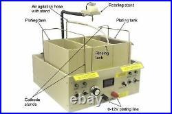 Electroplating Machine 20 Amp Plating Station with Agitation Rotation Heating
