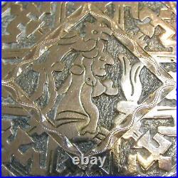 Estate 900 Silver Ring Pendant Earrings GUATAMALA Mayan MTR Demi Parure