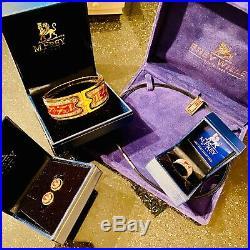 FREY WILLE Cleopatra Egypt Vintage Set Pendant, bracelet bangle, earrings, ring