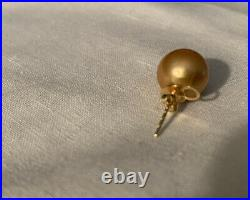 Golden South Sea Pearl Stud Earrings Pendant And Ring