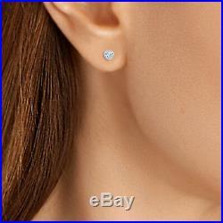 Heart Blue Aquamarine Halo Earring & Pendant 18 Valentine Set 14k White Gold FN
