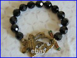 Heidi Daus Necklace and Clip On Earring, Pendant, Bracelet & Ring Black Beads