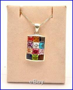 Hoshen Gemstones Set Ring Earrings & Pendant & Ring in Sterling Silver 925