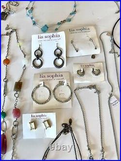Huge ALL Lia Sophia Lot Some NWT Necklace Pendant Earrings Bracelets Rings