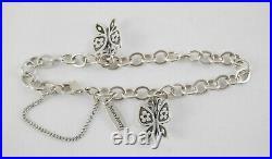 James Avery Sterling MARIPOSA BUTTERFLY SET Ring Earrings Pendant Charm Bracelet