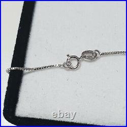 Joblot 50 Silver Cubic Zirconia Pendant Necklace + 50 Boxes Jewellery