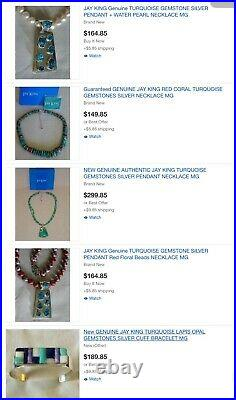 LOT Entire STORE Collection JAY KING GEMSTONES SILVER RING EARRINGS NECKLACE